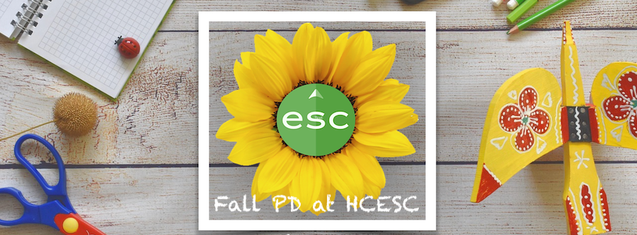 wooden table with esc sunflower and crafts
